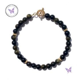Golden Obsidian GF Beaded Bracelet